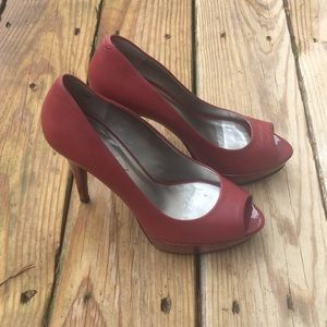 Guess Red Leather heels in size 7.5